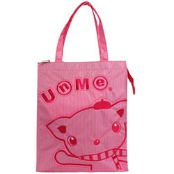 【UNME】繡花質感手提袋粉色