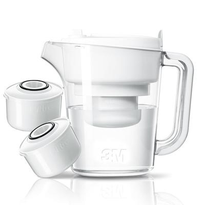 [送洗手乳+菜瓜布] 3M 即淨長效濾水壺WP3000(1壺+2濾心)