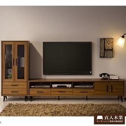 ANDER柚木212CM電視櫃加展示櫃