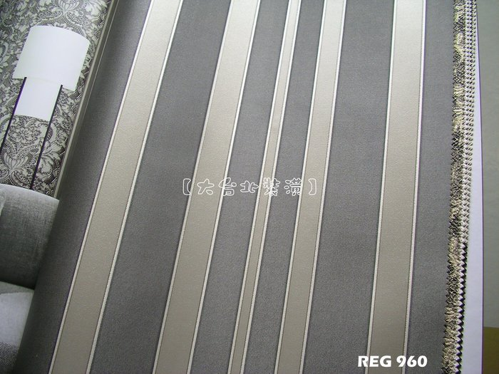 【大台北裝潢】REG義大利進口壁紙* 簡約直條紋 每支2800元