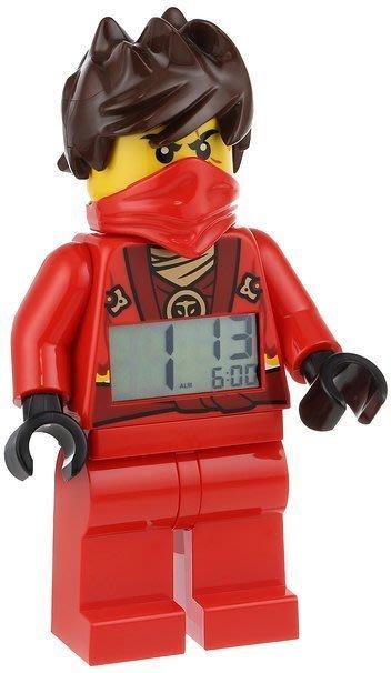 現貨【LEGO 樂高 】全新美國正品/ 紅忍者鬧鐘 Ninjago 旋風忍者 數字時鐘 KAI 人偶 公仔 無面罩款