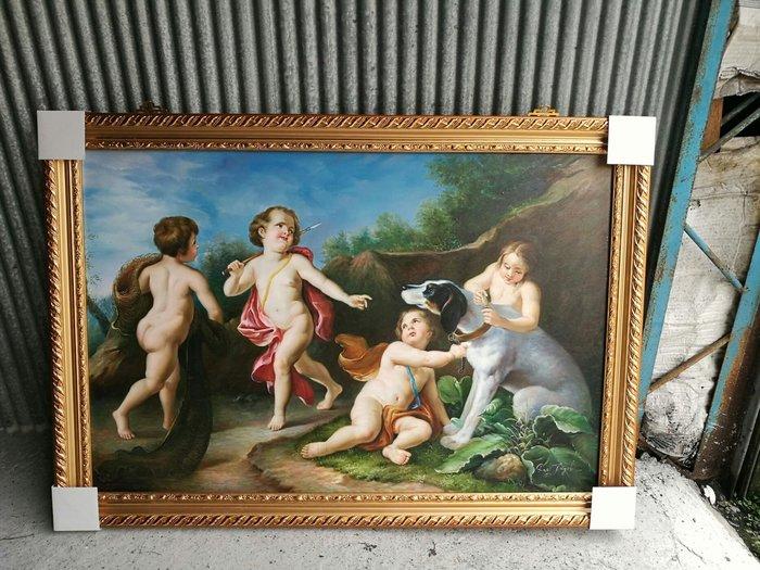 手繪 油畫 含框 100 70   公分   32000