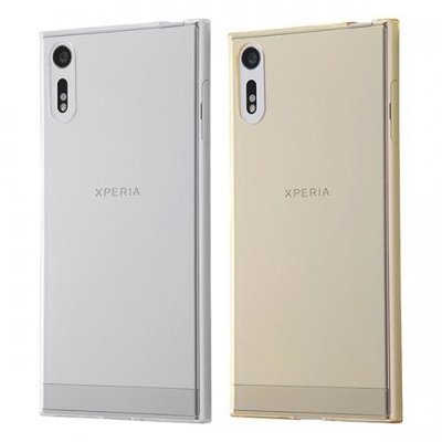 尼德斯Nydus~* 日本正版 Sony Xperia XZ 手機殼 透明 清水套 TPU 軟殼 0.8mm極薄設計