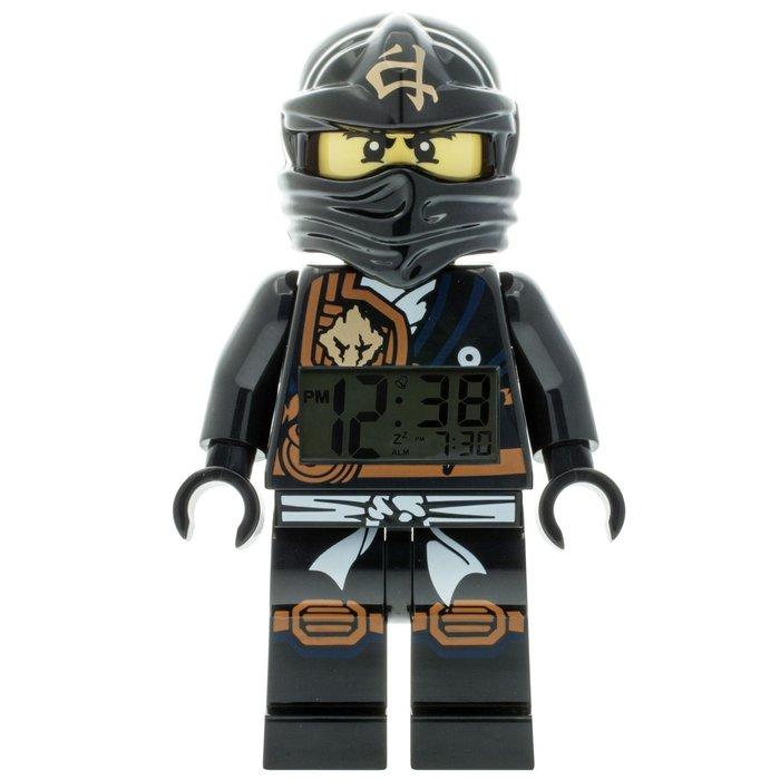 現貨【LEGO 樂高】全新正品/ 黑忍者鬧鐘 Ninjago 旋風忍者 數字時鐘 COLE 寇 人偶 公仔 含原廠盒