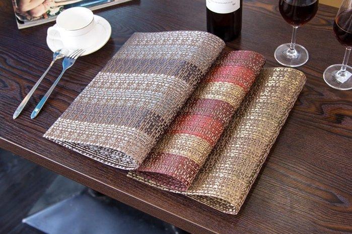 *菊色雛窗*多款手工編織/歐式餐墊/pvc質感餐墊/日式/隔熱墊/美觀大方/低調華麗/新款華麗桌墊