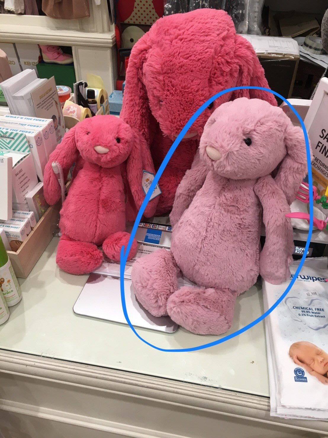 英國 JELLYCAT 邦尼兔 草莓兔 寶寶的第一個朋友 Strawberry Bunny 生日禮 安撫玩偶   尺寸3