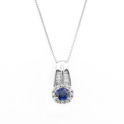 【JHT 金宏總珠寶/GIA鑽石專賣】1.03ct天然藍寶鑽墜/材質:18K/附證書(S00025)