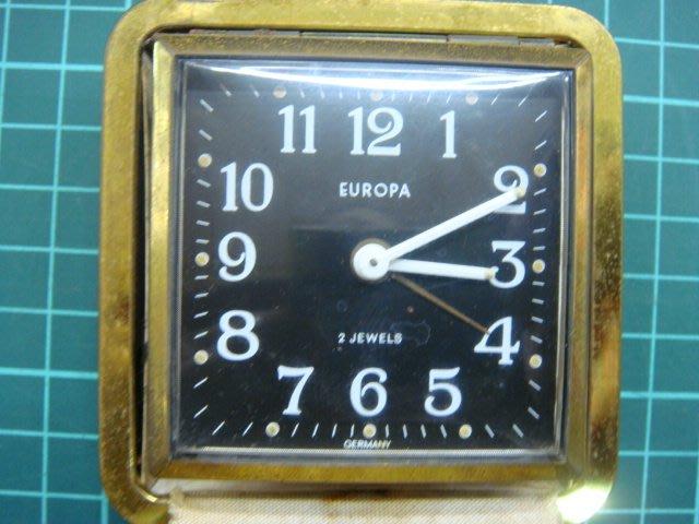"""早期德國(GERMANY  EUROPA)製稀少2石""""上發條""""機械鬧鐘.能行走.品項如圖"""