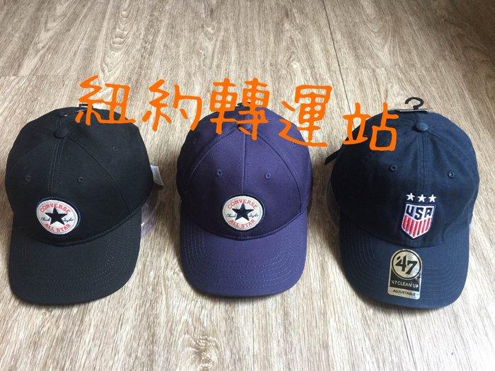 紐約轉運站 :美國現貨在台全新真品47 USA、 CONVERSE男生棉質運動休閒電繡棒球帽、老帽 後可調