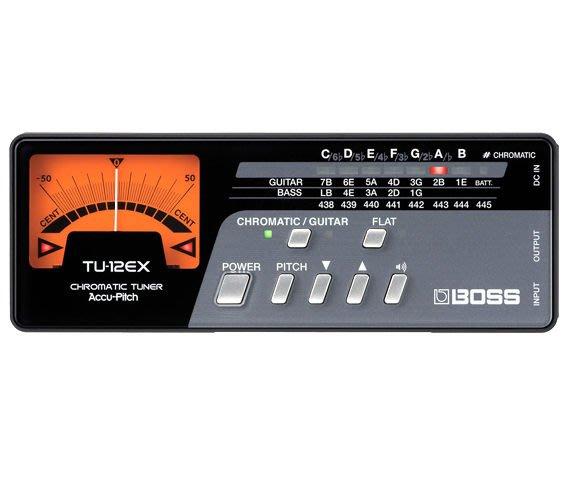 【六絃樂器】全新 Boss TU-12EX Chromatic Tuner 專業級調音器 / 現貨特價
