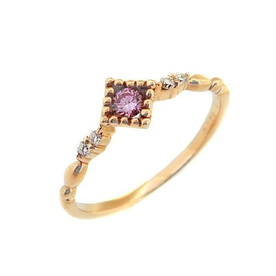【JHT金宏總珠寶/GIA鑽石專賣】0.078ct天然粉鑽造型戒指/材質:18K(JB43-A18)