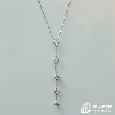 【JHT 金宏總珠寶/GIA鑽石專賣】日本限量鑽石飾品-天然鑽石18K金墜含鍊 0.605ct (JB20-A31)*