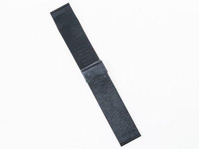 [米蘭錶帶] 男女錶通用 [不鏽鋼錶帶] 精品等級  多種錶款適用  24mm黑色 FA-43552