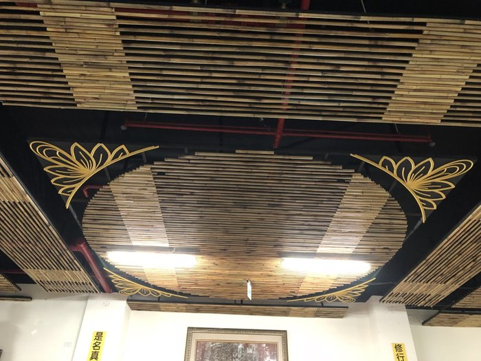 竹製天花板含蓮花圖騰--S1000-2673(以每一坪計算2500~3500元)