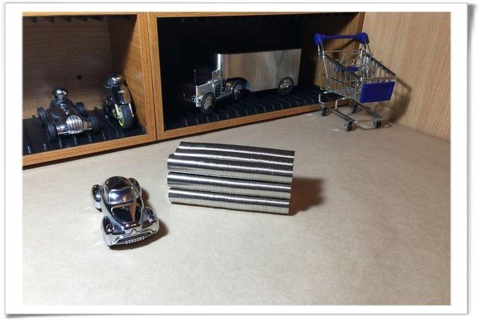 圓形超薄釹鐵硼磁鐵-15mmx0.8mm--適合磁吸卡片或結合木製品吸附鑰匙圏!