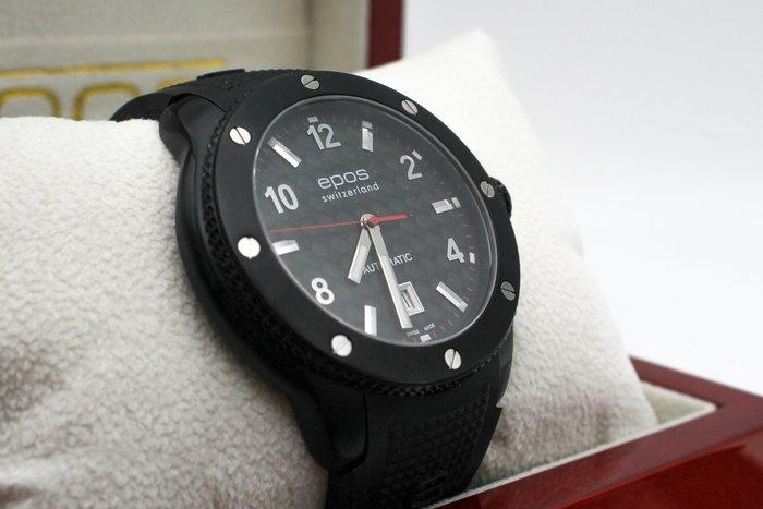 【高雄青蘋果3C】epos 黑色武士碳纖機械腕錶-IP黑/46mm 全自動上練機械表 #26732