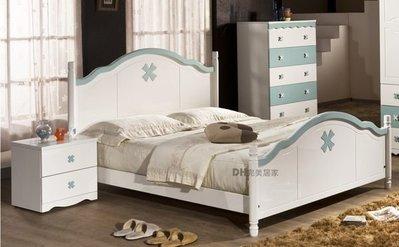 【DH】貨號HQ822《愛妮芬》5尺雙人床架˙甜美造型˙可愛夢幻風˙有粉/白兩色˙主要地區免運