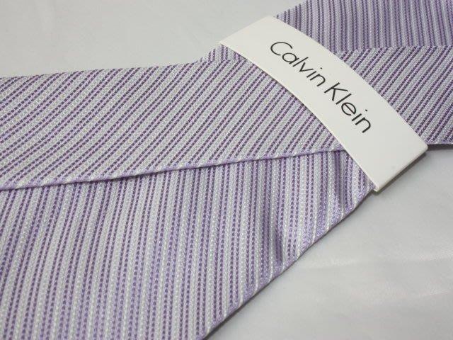 【Calvin Klein CK】100%全新正品 斜紋領帶-銀紫色【寬版8cm】*領帶兩條95折三條9折*C226