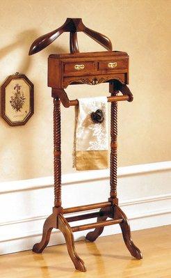 【DH】商品貨號N503-1稱《尊龍》法式胡桃衣帽架。復古歐風時尚經典。主要地區免運費