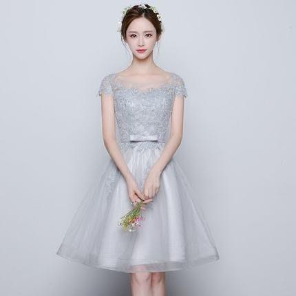 【曼妮婚紗禮服】3件免郵~結婚伴娘禮服 婚宴 喜宴 宴會 韓版修身顯瘦 小禮服HA270