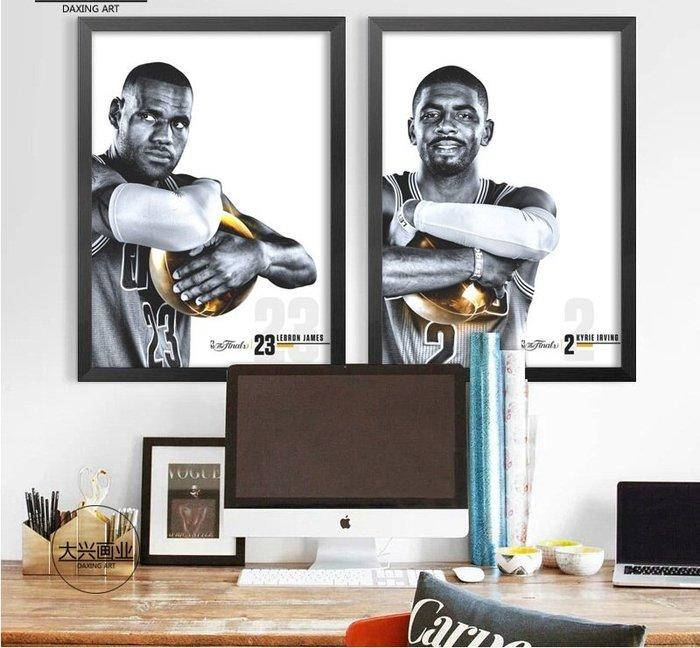 詹姆斯歐文庫里杜蘭特籃球NBA海報裝飾畫宿舍書房咖啡西餐廳掛畫(7款可選)