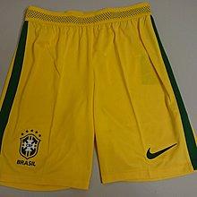 全新有牌Nike日本版16-17 巴西主場落場版波褲