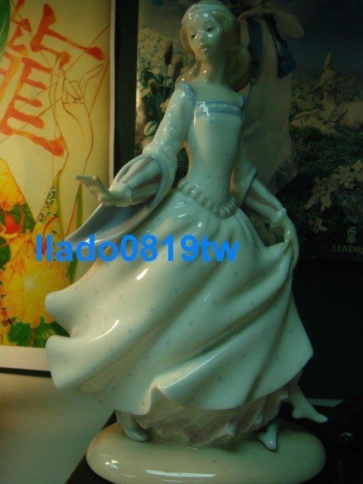 (特價品~3件$1.5萬)LLADRO (灰姑娘+散步的女孩+瓦倫西亞女孩)西班牙雅緻瓷偶 Lladró /另麥森