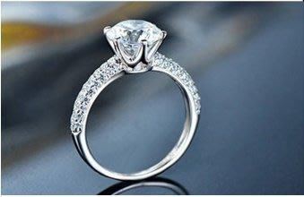 高仿鑽戒1克拉 相似度92%更璀璨求婚 結婚高仿真鑽石手飾 歐美豪華高檔微鑲純銀戒指   FOREVER鑽寶