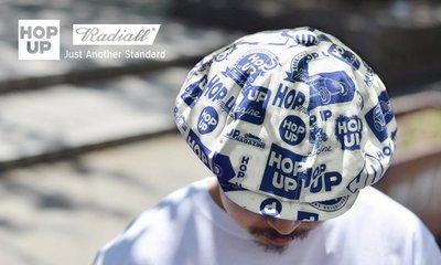 GOODFORIT / 日本品牌Radiall x Hop Up Magazine雜誌歷年標誌滿版八片式涼感報童帽款