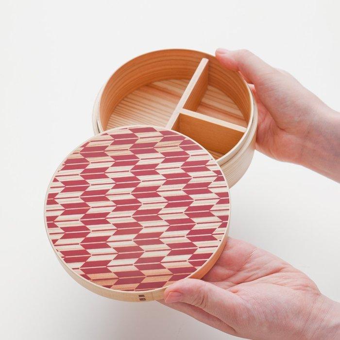 日式便當盒  木製 竹製便當盒  運動會 lunch box 日式野餐盒 櫻井  650ml  LUCI日本代購
