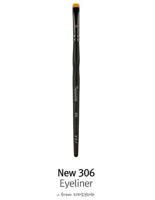 【愛來客】韓國PICCASSO授權經銷商 PICCAS New 306 扁闊頭 眼線化妝刷 眼影刷 眼部刷具 專業化妝刷