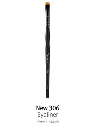 PICCAS New 306 【愛來客】韓國PICCASSO授權經銷商 扁闊頭 眼線化妝刷 眼影刷 眼部刷具 專業化妝刷