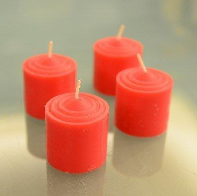 【嘉南佛教文物】《九品》8H酥油蠟燭-紅(50個 / 盒),日日點燈,光明吉祥!100%純天然、無毒無煙、環保無害!