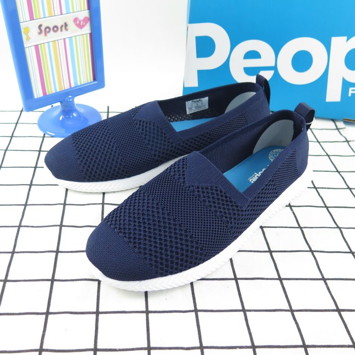 【iSport愛運動】PEOPLE 正品 現貨 THE SAPANNOS  編織懶人鞋 NC03K003 深藍男款