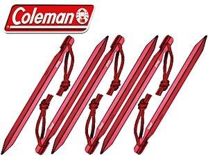 【JP.com】日本代購 Coleman 170TA0026  18cm 鋁合金營釘 (6支組) 紅色