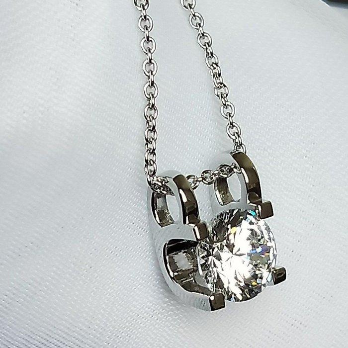 特價卡迪吊墜 3克拉高碳仿真鑽石項鏈女鑽 3克拉韓版飾品 精工爪鑲單碳原子 純銀鍍鉑金不勾扯毛髮  FOREVER鑽寶