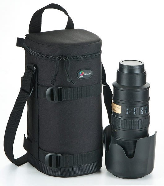 呈現攝影-SAMARK 鏡頭筒 09 硬式鏡頭袋 鏡頭套 保護套 14.5x30cm 大白+遮罩可用 非Lens Case 5/F號