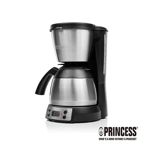 贈環保隨行杯【荷蘭公主 PRINCESS】1.2L半自動美式咖啡機/304不鏽鋼保溫咖啡壺 (246009)