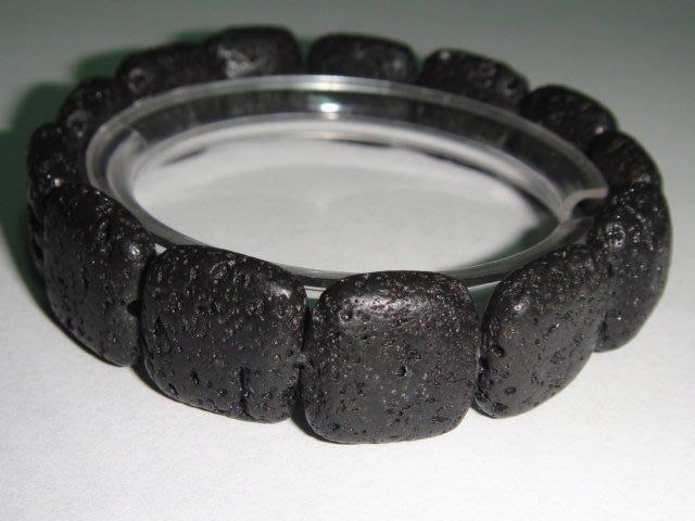 芳緣寶石坊~【能量礦石天然黑隕石泰國隕石造型手鍊】總重26.5公克
