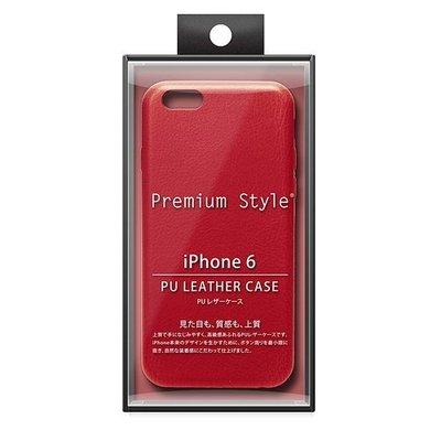 尼德斯Nydus~* 日本正版 PGA 皮革質感 皮套 手機殼 保護殼 孔位精準 iPhone6 4.7吋 紅色