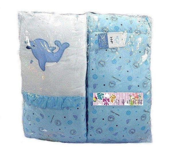 ~歡樂屋~..... 超恬靜嬰兒寢具~專櫃小海豚精疏棉寢具四件組 ..... 各式小床 搖