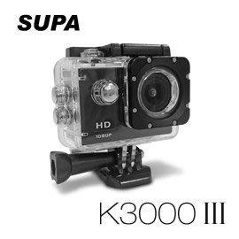【皓翔行車監控館】速霸 K3000 III 三代 Full HD 1080P 極限運動防水型 行車記錄器