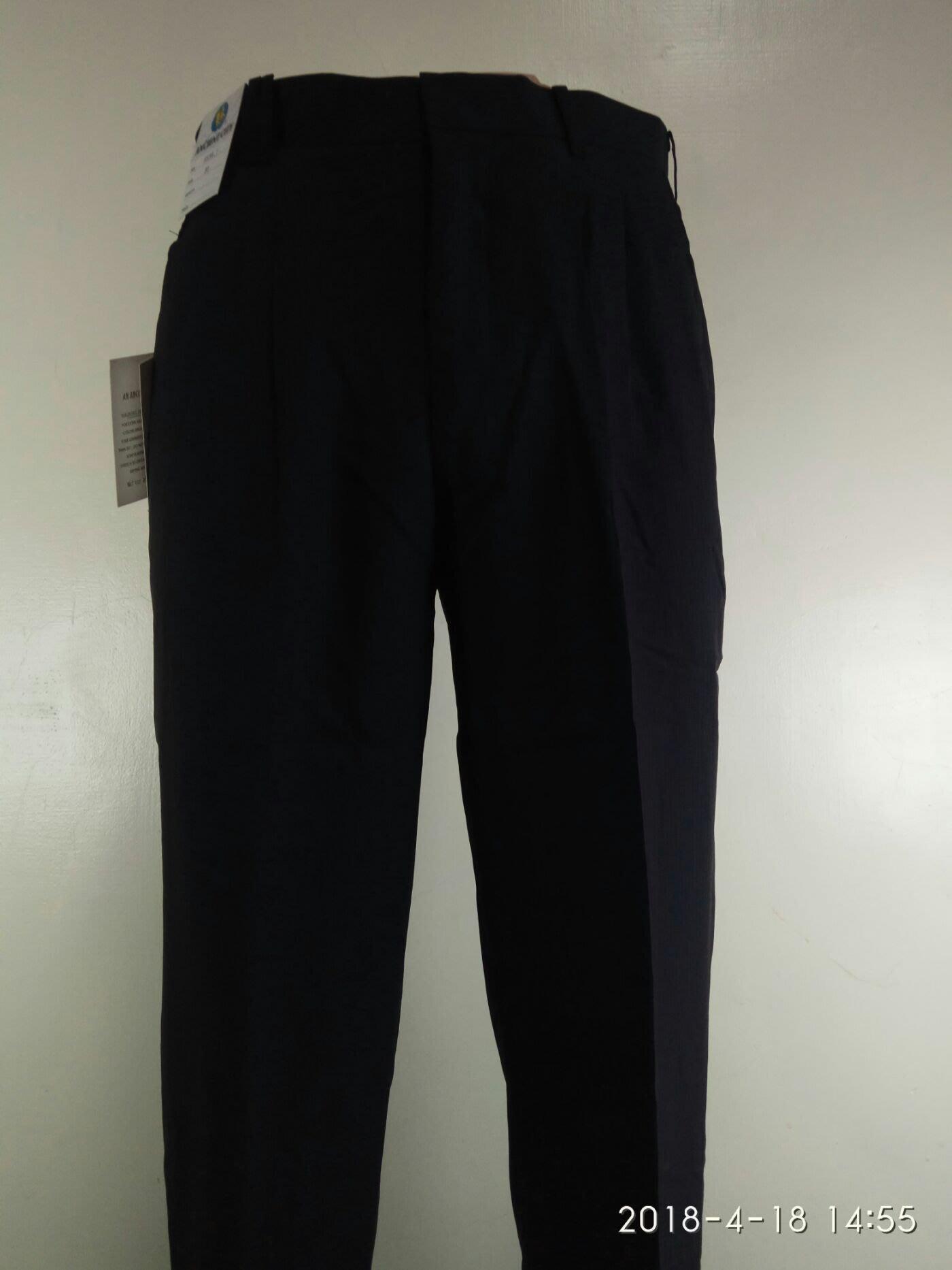 夏季台灣布料越南加工打摺「5636-1」黑灰色條紋免燙西裝褲(29-42)免費修改
