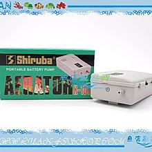~~魚店亂亂賣~~ Shiruba銀箭K~101乾電池式 單孔 打氣幫浦、打氣機 停電、活