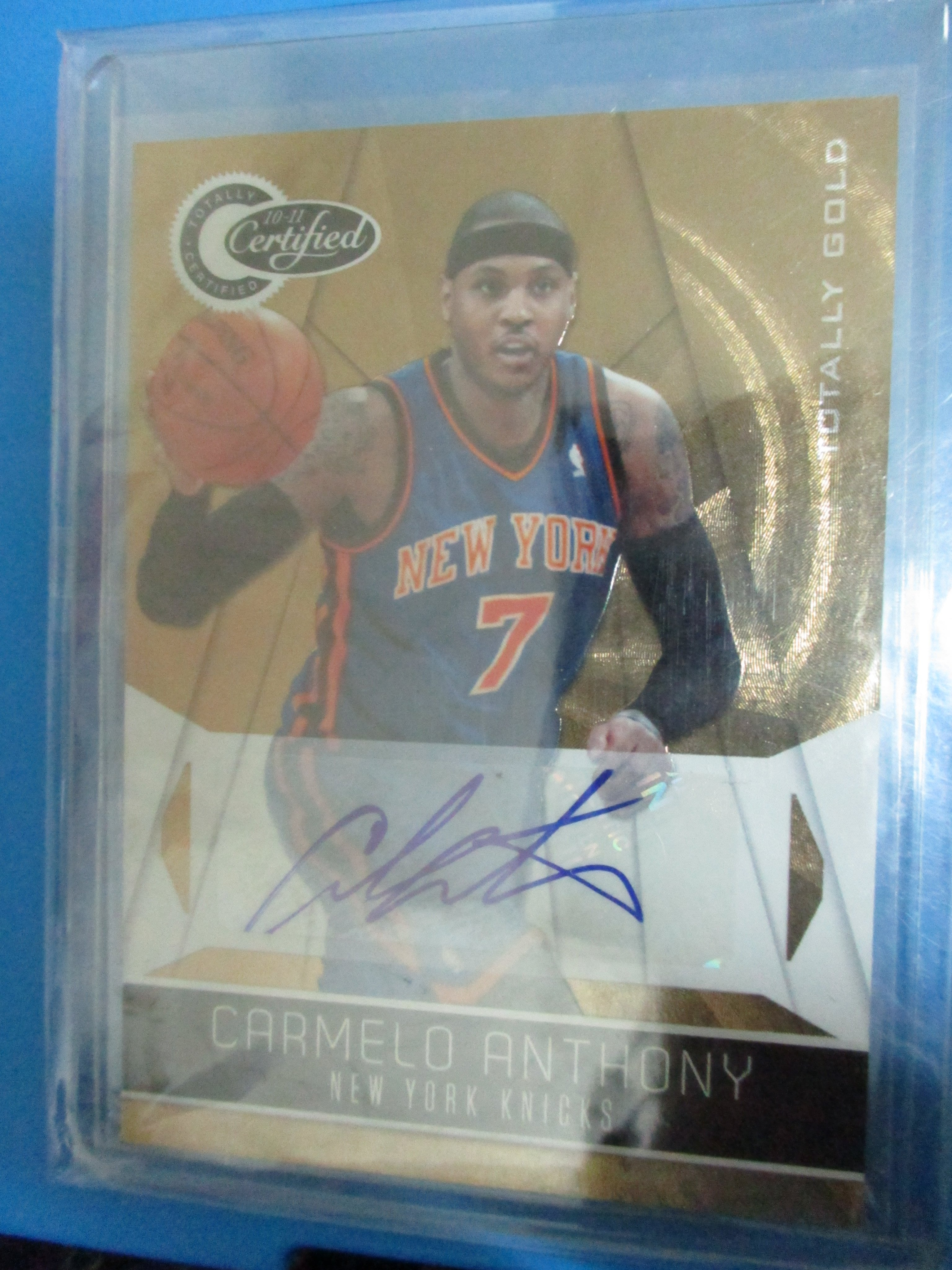 Camelo Anthony 10-11 Totally Certified Gold Auto 同背號限量10張金簽名
