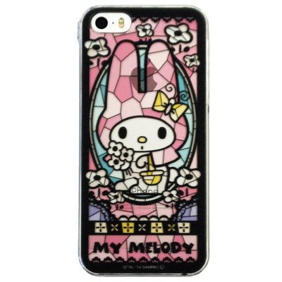 尼德斯Nydus~* 日本正版 三麗鷗 Melody 美樂蒂 硬殼 彩繪玻璃 風格 手機殼 iPhone5 5S