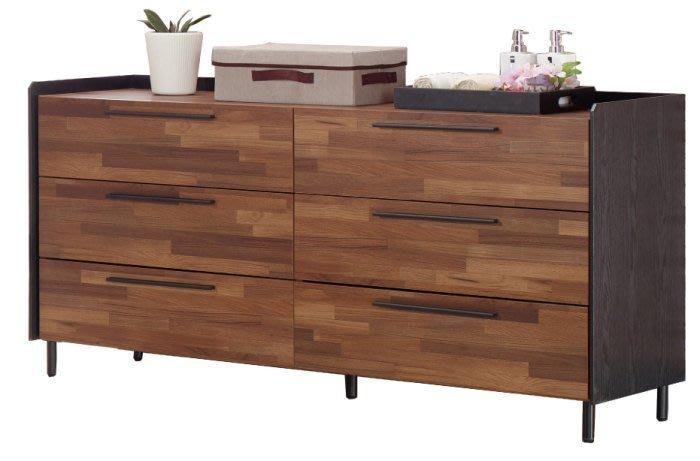 【DH】商品貨N522-4號商品名稱《卡梭》5尺雙色六斗櫃(圖一)木心板/台灣製可訂做。主要地區免運費