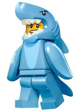 現貨【LEGO 樂高】積木/ Minifigures人偶系列: 15 代人偶包抽抽樂 71011 | 鯊魚人 Shark