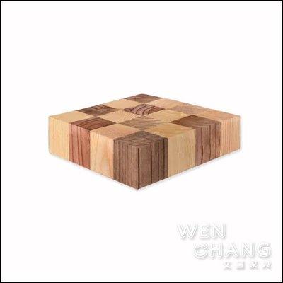 訂製品  棋盤杯墊 原木杯墊 四個一組 CU062 *文昌家具*