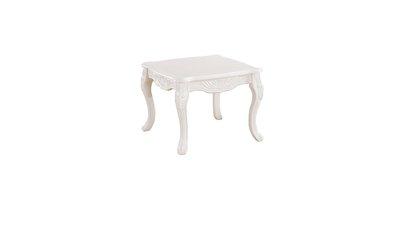 【大熊傢俱】8806 玫瑰系列  白色小方几   邊几 歐式 茶几 角几  桌子 電話几